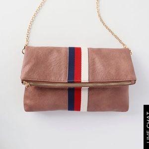 Striped mauve purse